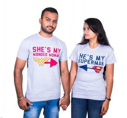 Best couple t shirts online india tees for couples for Couple printed t shirts india