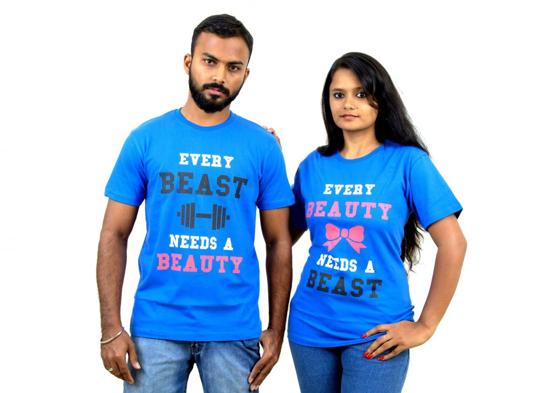 Best couple t shirts kamos t shirt for Couple printed t shirts india