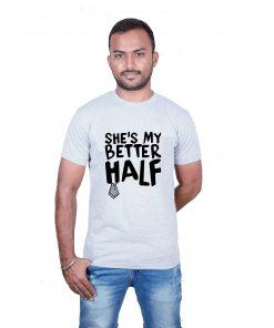 He's & She's My BetterHalf Couple T-Shirts